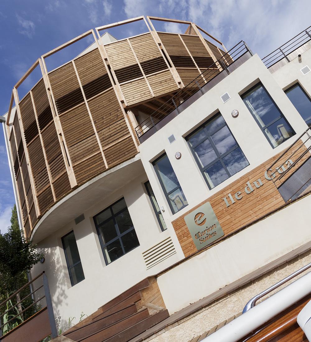 Clarion suites Ile du Gua et brasserie Flo - Résidence de tourisme 4 étoiles et restructuration du moulin en restaurant Narbonne (11)