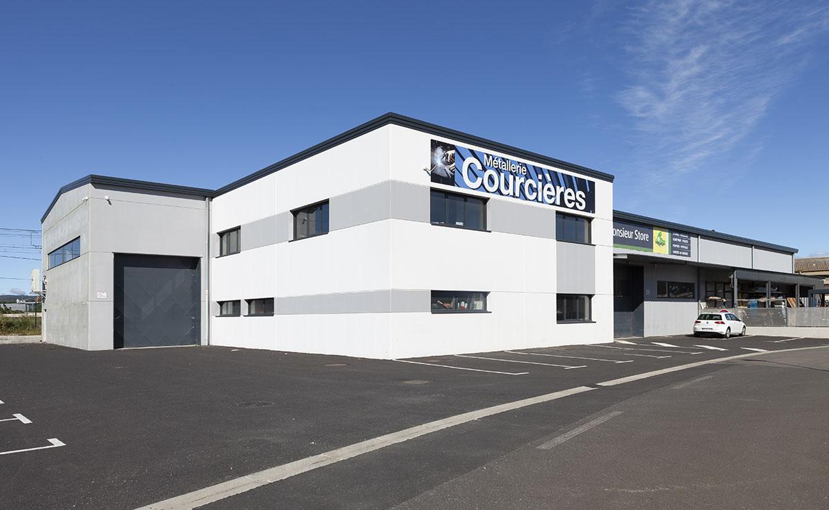 ÉTABLISSEMENTS COURCIÈRES - Bâtiment industriel, entrepôt