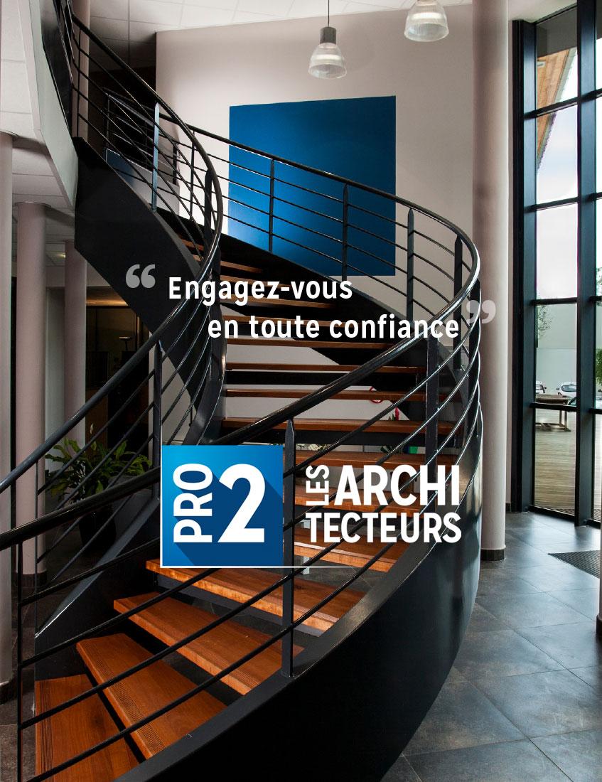 escalier réalisé par Pro2 Architecteurs